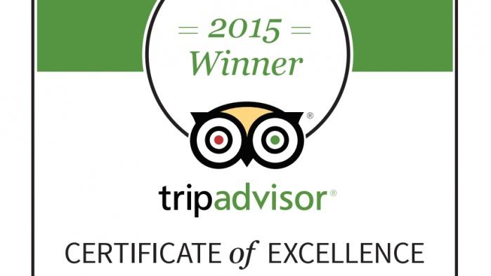 TripAdvisor 2015 Mükemmellik Sertifikası kazanan işletmeler arasındayız…